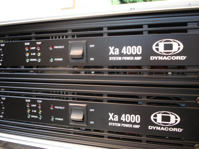 Dynacord Xa4000 Amplifier Build A Hire System Langley